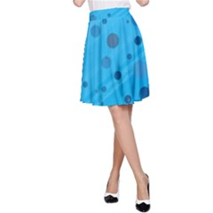 Decorative Dots Pattern A Line Skirt by ValentinaDesign
