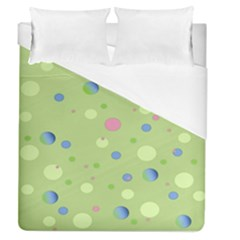 Decorative Dots Pattern Duvet Cover (queen Size) by ValentinaDesign