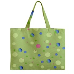 Decorative Dots Pattern Medium Tote Bag by ValentinaDesign