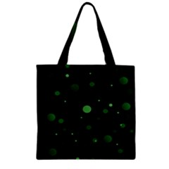 Decorative Dots Pattern Zipper Grocery Tote Bag by ValentinaDesign