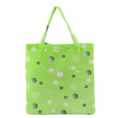 Decorative Dots Pattern Grocery Tote Bag by ValentinaDesign