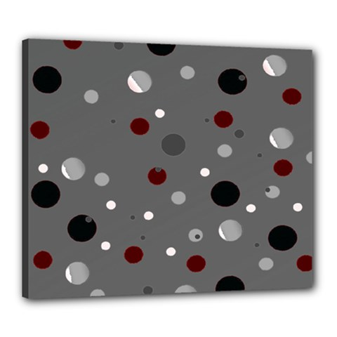 Decorative Dots Pattern Canvas 24  X 20  by ValentinaDesign