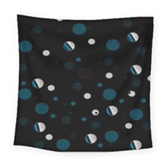 Decorative Dots Pattern Square Tapestry (large) by ValentinaDesign