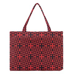 Abstract Background Red Black Medium Tote Bag