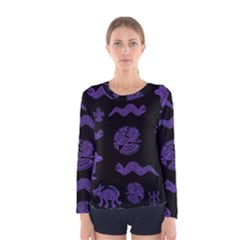 Aztecs Pattern Women s Long Sleeve Tee by ValentinaDesign