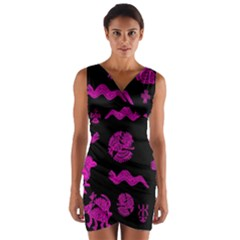 Aztecs Pattern Wrap Front Bodycon Dress by ValentinaDesign