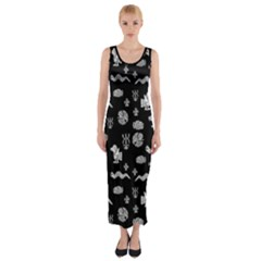 Aztecs Pattern Fitted Maxi Dress by ValentinaDesign