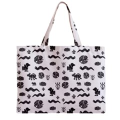 Aztecs Pattern Zipper Mini Tote Bag by ValentinaDesign