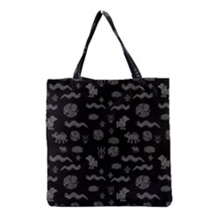 Aztecs Pattern Grocery Tote Bag by ValentinaDesign