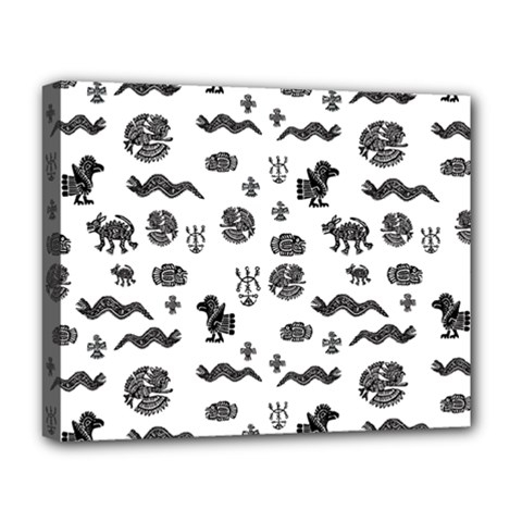 Aztecs Pattern Deluxe Canvas 20  X 16   by ValentinaDesign