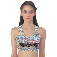 Colorful Paint      Women s Sports Bra by LalyLauraFLM