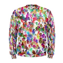 Colorful spirals on a white background              Men s Sweatshirt