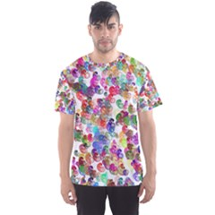 Colorful spirals on a white background             Men s Sport Mesh Tee