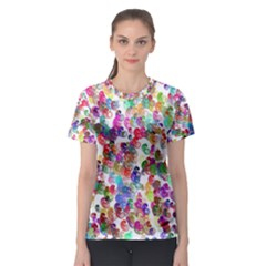 Colorful spirals on a white background             Women s Sport Mesh Tee