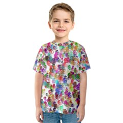 Colorful spirals on a white background             Kid s Sport Mesh Tee