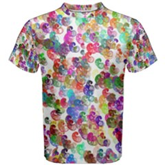 Colorful spirals on a white background             Men s Cotton Tee