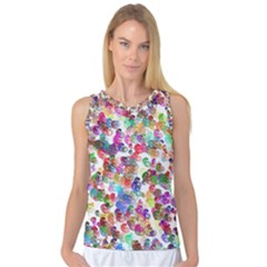 Colorful spirals on a white background             Women s Basketball Tank Top