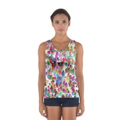 Colorful spirals on a white background             Women s Sport Tank Top