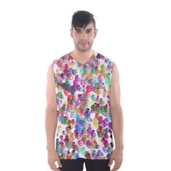Colorful spirals on a white background             Men s Basketball Tank Top