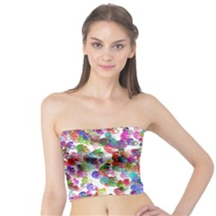 Colorful spirals on a white background        Women s Tube Top
