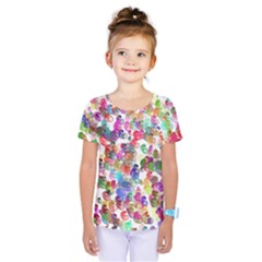 Colorful spirals on a white background                Kids  One Piece Tee