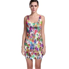 Colorful spirals on a white background             Bodycon Dress