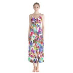 Colorful spirals on a white background             Chiffon Maxi Dress