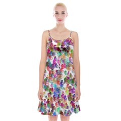 Colorful spirals on a white background                Spaghetti Strap Velvet Dress