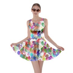 Colorful spirals on a white background             Skater Dress