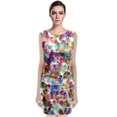 Colorful spirals on a white background                  Classic Sleeveless Midi Dress
