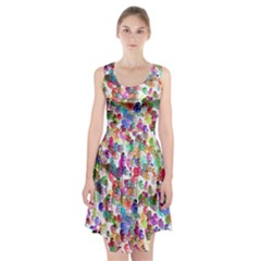 Colorful spirals on a white background                 Racerback Midi Dress
