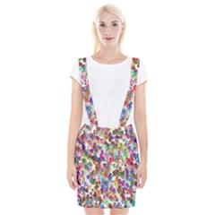 Colorful spirals on a white background                 Braces Suspender Skirt