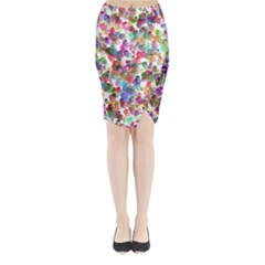 Colorful spirals on a white background       Midi Wrap Pencil Skirt