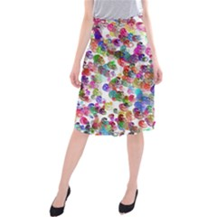 Colorful spirals on a white background         Midi Beach Skirt