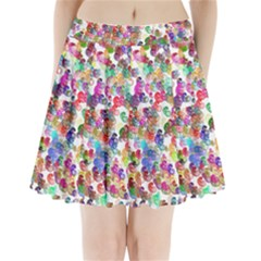 Colorful spirals on a white background         Pleated Mini Mesh Skirt