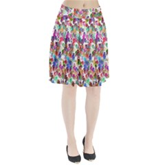 Colorful spirals on a white background         Pleated Skirt