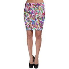 Colorful spirals on a white background             Bodycon Skirt