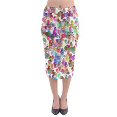 Colorful spirals on a white background               Midi Pencil Skirt