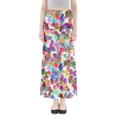 Colorful spirals on a white background        Women s Maxi Skirt