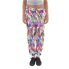 Colorful spirals on a white background             Women s Jogger Sweatpants