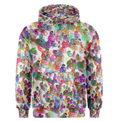 Colorful spirals on a white background             Men s Pullover Hoodie