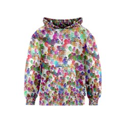 Colorful spirals on a white background             Kid s Pullover Hoodie