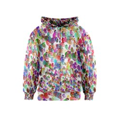Colorful spirals on a white background             Kids Zipper Hoodie