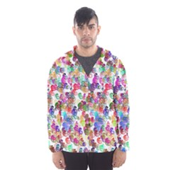 Colorful spirals on a white background             Mesh Lined Wind Breaker (Men)