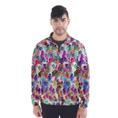Colorful spirals on a white background             Wind Breaker (Men)