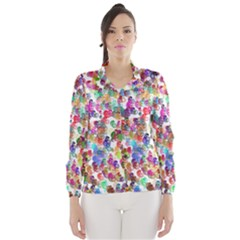 Colorful spirals on a white background             Wind Breaker (Women)
