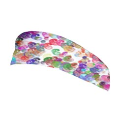 Colorful spirals on a white background             Stretchable Headband