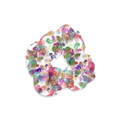 Colorful spirals on a white background             Velvet Scrunchie