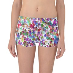 Colorful spirals on a white background                 Reversible Boyleg Bikini Bottoms