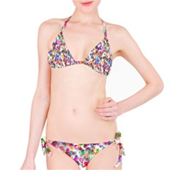 Colorful spirals on a white background             Bikini set